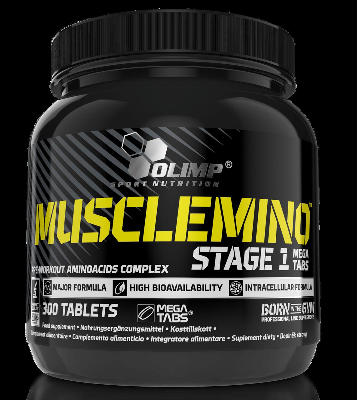 Аминокислоты Olimp Musclemino Stage 1 mega tabs 300 tab