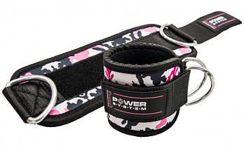 Манжеты на лодыжку Power System Ankle Strap Camo PS-3470 Pink/Black