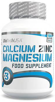 Витамины и минералы BioTech Calcium Zinc Magnesium (100 tabs)