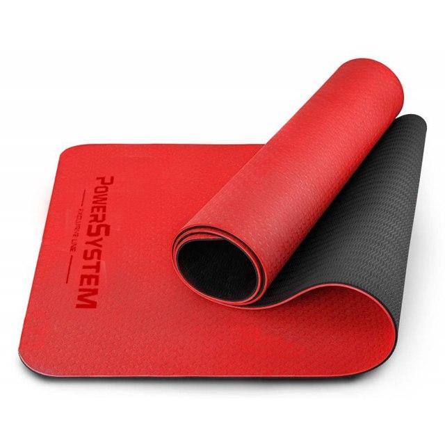 Коврик для йоги и фитнеса POWER SYSTEM YOGA MAT PREMIUM PS-4060 Red