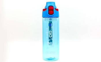 Пляшка для води спортивна FI-6435-2 600мл (TRITAN прозрач, PP, синій)