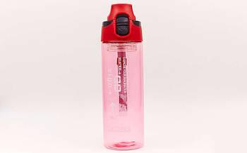 Пляшка для води спортивна FI-6435-3 600мл (TRITAN прозрач, PP, червоний)