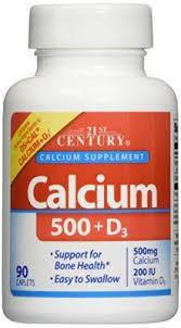 Витамины и минералы 21st Century Calcium 500 + D3 (90 tab)
