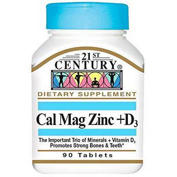 Витамины и минералы  21st century cal mag zinc + d3 (90 tablets)
