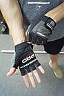Перчатки для фитнеса и тяжелой атлетики Power System Fitness PS-2300 L Grey/Black, фото 9