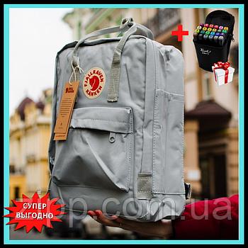 Школьный рюкзак Kanken  Городской рюкзак  Fjallraven Kanken Classic Серый  + ПОДАРОК Скетч маркеры
