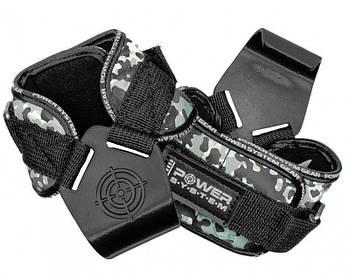 Крюки для тяги на запястья Power System Hooks Camo PS-3370 Black/Grey L