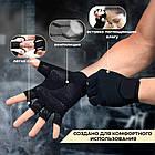 Перчатки для фитнеса и тяжелой атлетики Power System Power Plus PS-2500 XS Black/Grey, фото 8