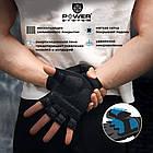 Перчатки для фитнеса и тяжелой атлетики Power System Power Plus PS-2500 XS Black/Grey, фото 9