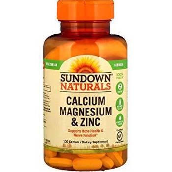Sundown Naturals Calcium Magnesium Zinc (100 caps)