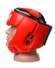 Боксерський шолом турнірний PowerPlay 3049 XL Червоний, фото 3