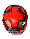 Боксерський шолом турнірний PowerPlay 3049 XL Червоний, фото 5
