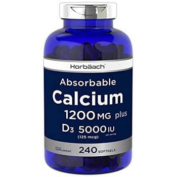 Horbaach Absorbable Calcium + D3 1200 mg 5000 IU Vitamin D3 (240 cap)
