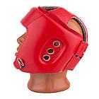 Боксерський шолом турнірний PowerPlay 3084 червоний S, фото 3