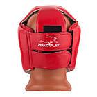 Боксерський шолом турнірний PowerPlay 3084 червоний S, фото 4