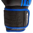Боксерські рукавиці PowerPlay 3022 Чорно-Сині [натуральна шкіра] 10 унцій, фото 7