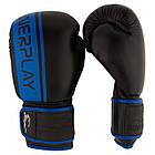 Боксерські рукавиці PowerPlay 3022 Чорно-Сині [натуральна шкіра] 10 унцій, фото 8