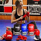 Боксерські рукавиці PowerPlay 3019 Сині 8 унцій, фото 10
