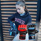 Рукавички для MMA PowerPlay 3055 Чорно-Сині XL, фото 8
