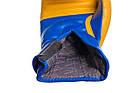 Боксерські рукавиці PowerPlay 3021 Ukraine Синьо-Жовті 14 унцій, фото 2