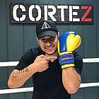 Боксерські рукавиці PowerPlay 3021 Ukraine Синьо-Жовті 14 унцій, фото 6