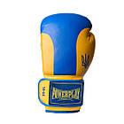 Боксерські рукавиці PowerPlay 3021 Ukraine Синьо-Жовті 14 унцій, фото 8