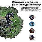 Велорукавички PowerPlay 5041 B Чорно-блакитні XS, фото 8
