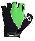 Велорукавички PowerPlay 5019 A Чорно-зелені L, фото 2