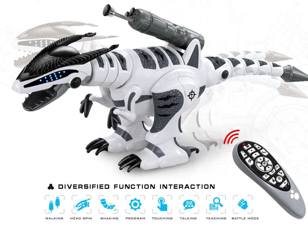 Интерактивный робот динозавр на радиоуправлении с пультом 1825-12