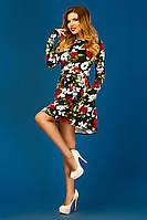 Цветочное платье с карманами