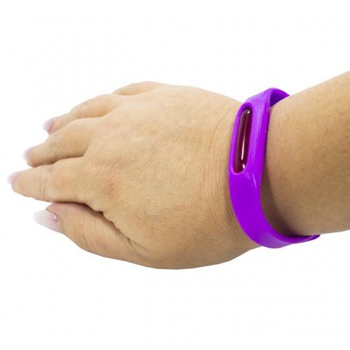 Силіконовий браслет проти комарів Anti Mosquito Band Фіолетовий