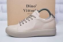 Жіночі кеди, кросівки на платформі натуральна шкіра Dino Vittorio