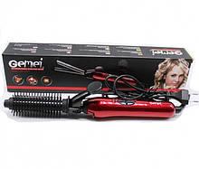 Плойка для волосся GEMEI GM-2906 щипці + насадка-щітка для волосся