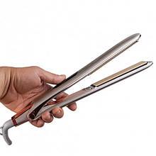 Прасочка для волосся Gemei Gm-407. Випрямлячі, щипці для волосся з керамічним покриттям, з обертанням шнура