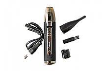 Аккумуляторный триммер машинка для стрижки бровей и волос в носу ушах GEMEI PRO GM-3109 ORIGINAL
