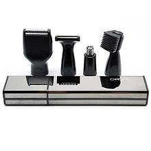 Мужской триммер-бритва 4в1 Gemei GM-3116. Для бороды, носа, висков и ушей. Лезвия из нержавеющей стали, работа
