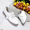 Классические белые кожаные демисезонные туфли натуральная кожа низкий ход 38-24,5 см, фото 8