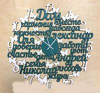 Интерьерные часы со словами