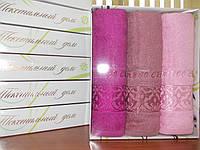 Набор бамбуковых полотенец 30*50 (3шт) в коробке
