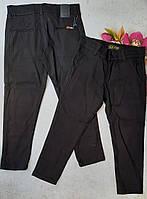 Шкільні штани котонові підліткові для хлопчика розмір 10-13 років,колір чорний
