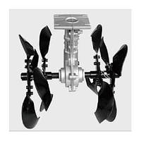 Насадка-культиватор для мотокоси, d28 мм, 9 шліцов, FORTE YK-W005-28 (108934)