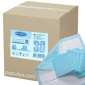 Пеленки Белоснежка 40х60см №30 гигиенические влаговпитывающие