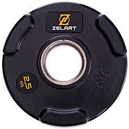 Блины 51мм 2,5кг (диски) обрезиненные Zelart, фото 2