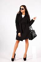 Пальто женское кашемировое с поясом P519, фото 1