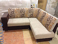 Перетяжка обивки углового дивана