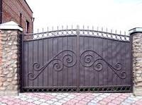 Цельные металлические ворота г. Херсон