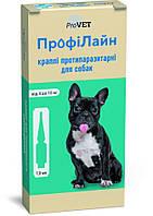 Капли на холку Профилайн 4кг-10кг 1 уп 4 пипетки * 1.0 мл для собак инсектоакарицид
