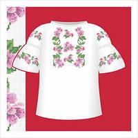 Схема вышивания сорочки для девочки с коротким рукавом СД2-030
