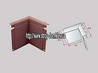 Угол откоса к фасадным панелям коричневый