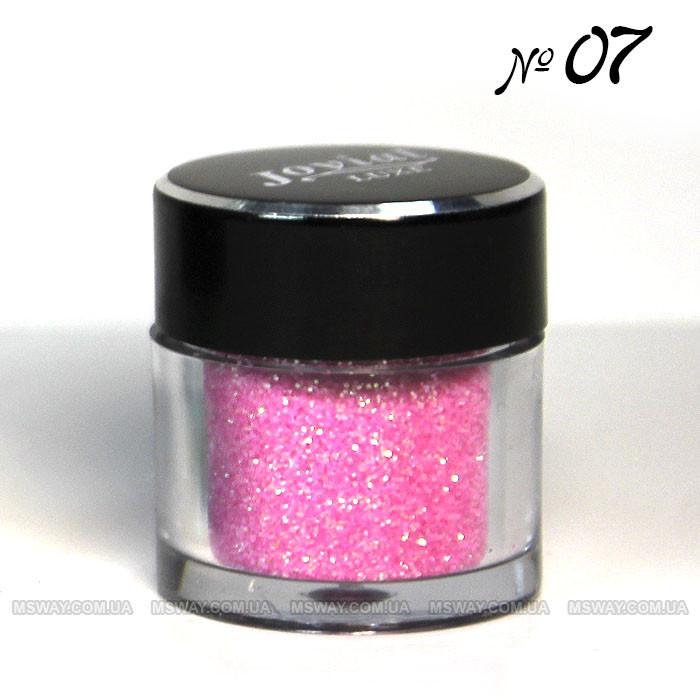 Jovial Luxe - Рассыпчатые блестки в баночке E-501 №07 (розовый)
